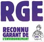 logo mention RGE reconnu garant de l'environnement