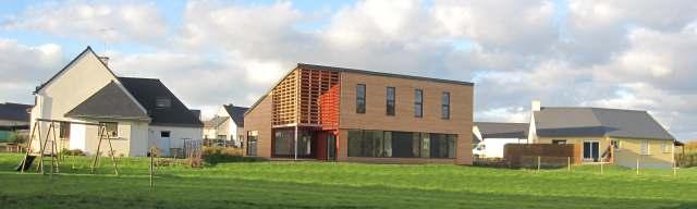 Panoramique maison ossature bois neuve BBC