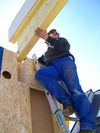 Carpentry and wooden frame houses construction services