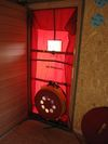 Porte ventilateur pour infiltrometrie blower door